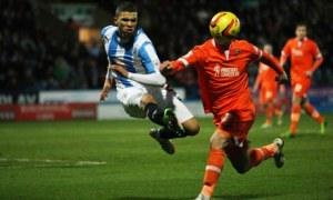 Huddersfield's Nahki Wells scored against Millwall in the Championship at the Galpharm Stadium