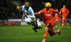 Huddersfield's Nahki Wells scored against Millwall in the Championship at the Galpharm Stadium